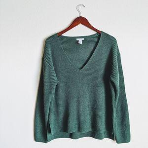 H&M Green Dolman Sweater Medium